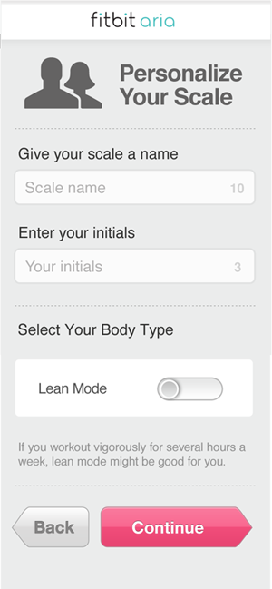 Using a Smartphone or Wi-Fi Enabled Tablet: Personalize your scale